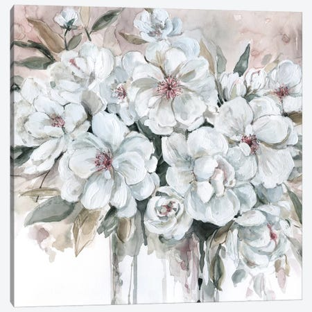 Blushing Bouquet Canvas Print #CRO576} by Carol Robinson Canvas Artwork