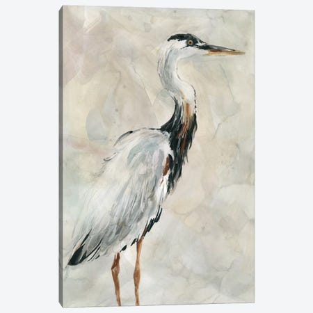 Crane at Dusk I Canvas Print #CRO580} by Carol Robinson Canvas Artwork