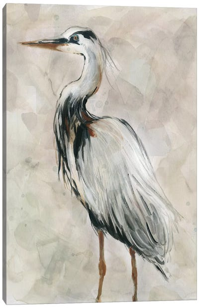 Crane at Dusk II Canvas Art Print