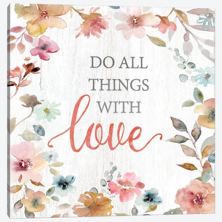 Do All Things Canvas Print #CRO584} by Carol Robinson Canvas Art Print