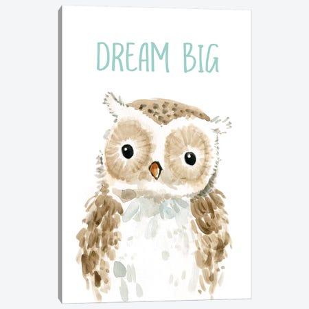 Dream Big Owl Canvas Print #CRO585} by Carol Robinson Art Print
