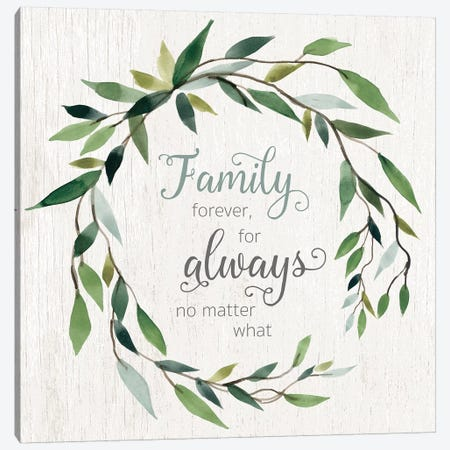 Family Forever Canvas Print #CRO589} by Carol Robinson Canvas Wall Art