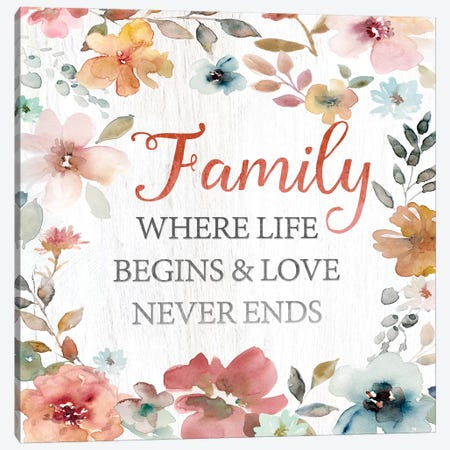 Family Life Begins Canvas Print #CRO590} by Carol Robinson Canvas Print