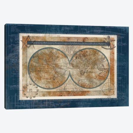 Blueprint Of The World Canvas Print #CRO5} by Carol Robinson Canvas Print