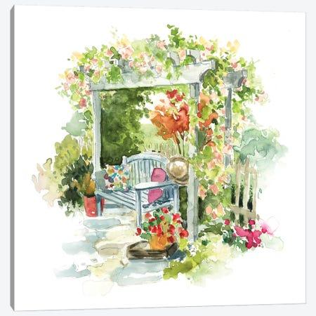 Garden Retreat Canvas Print #CRO604} by Carol Robinson Canvas Wall Art