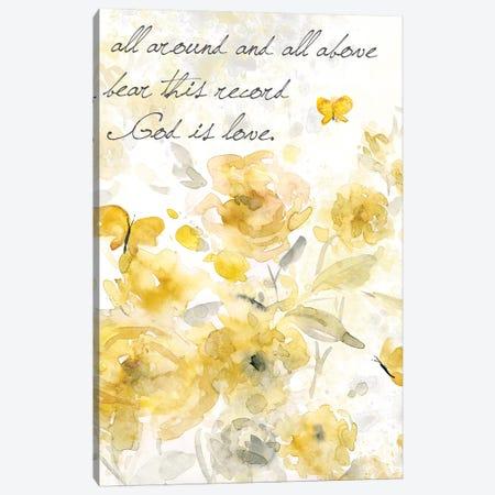 God is Love I Canvas Print #CRO607} by Carol Robinson Canvas Artwork