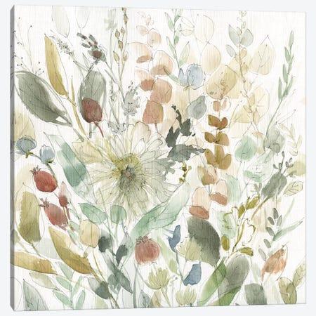 Linen Wildflower Garden Canvas Print #CRO620} by Carol Robinson Canvas Print