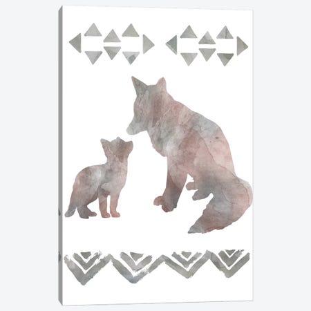 Little Lady Den Foxes Canvas Print #CRO622} by Carol Robinson Art Print