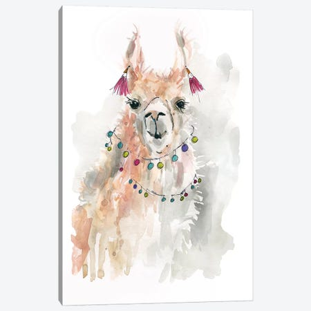 Llama Drama I Canvas Print #CRO627} by Carol Robinson Canvas Wall Art