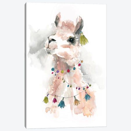 Llama Drama II Canvas Print #CRO628} by Carol Robinson Art Print