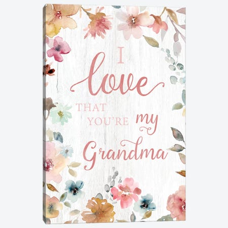 Love Grandma Canvas Print #CRO631} by Carol Robinson Canvas Wall Art