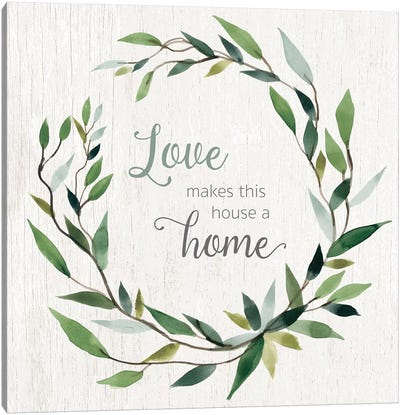 Love Home Canvas Art Print