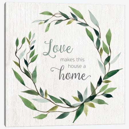 Love Home Canvas Print #CRO632} by Carol Robinson Canvas Artwork