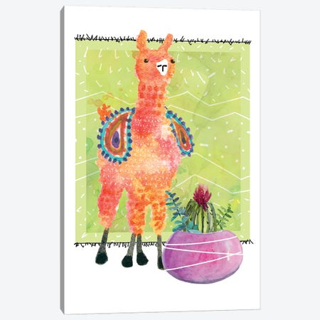 Lovely Llama I Canvas Print #CRO634} by Carol Robinson Canvas Print
