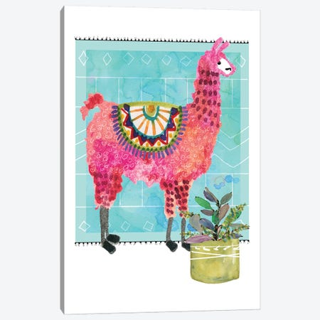 Lovely Llama III Canvas Print #CRO636} by Carol Robinson Canvas Art Print