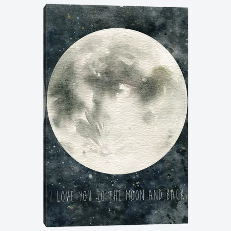 Moon Love Canvas Print #CRO644} by Carol Robinson Canvas Artwork