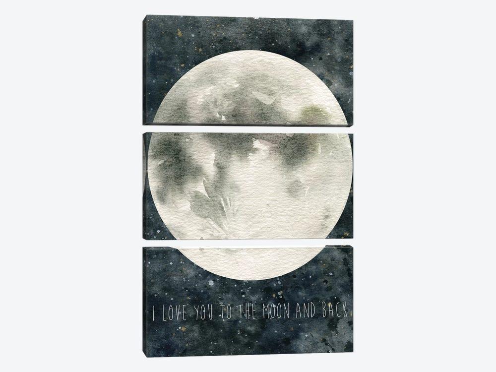 Moon Love by Carol Robinson 3-piece Canvas Art Print