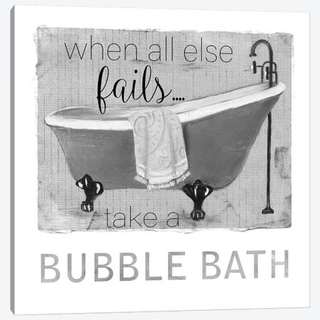Neutral Bubble Bath Canvas Print #CRO649} by Carol Robinson Canvas Art Print