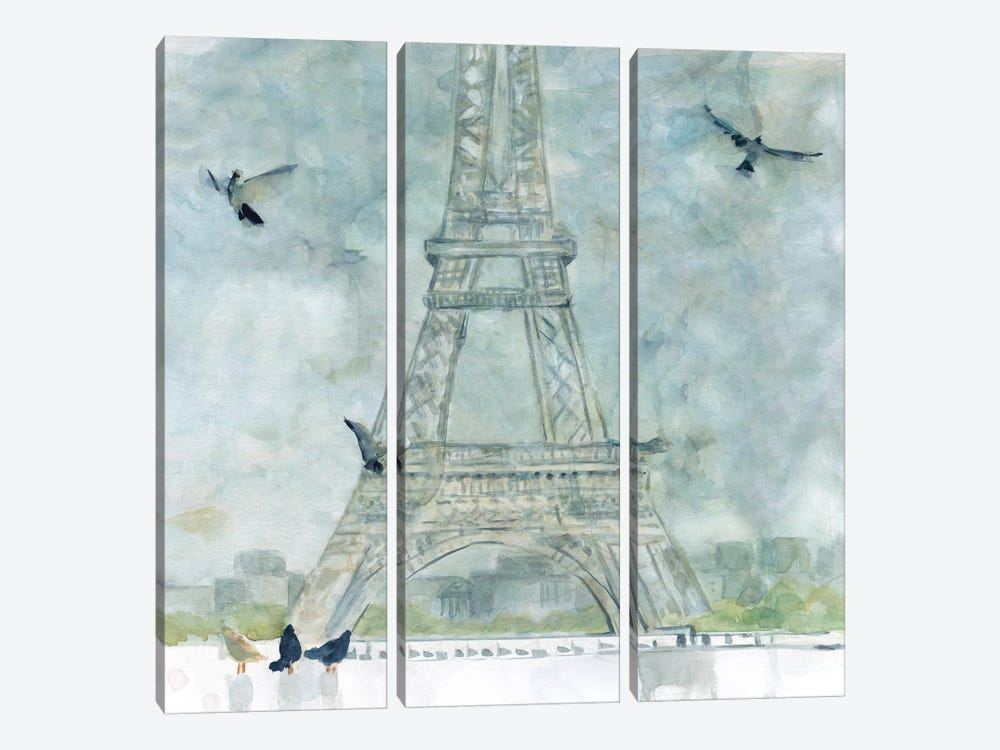 Paris in Flight by Carol Robinson 3-piece Canvas Print