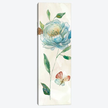 Rose Blue Wash Canvas Print #CRO670} by Carol Robinson Canvas Art