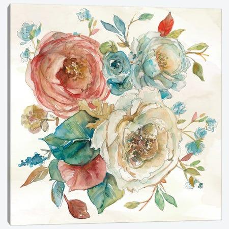 Rose Garden I Canvas Print #CRO671} by Carol Robinson Canvas Artwork