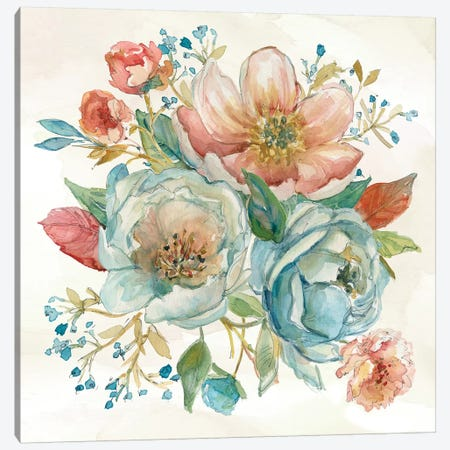 Rose Garden II Canvas Print #CRO672} by Carol Robinson Canvas Artwork