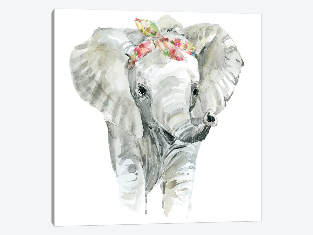 Savannah Elephant by Carol Robinson 1-piece Canvas Art