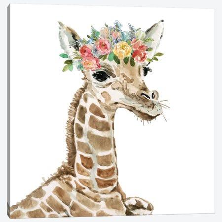Savannah Giraffe Canvas Print #CRO675} by Carol Robinson Canvas Art Print