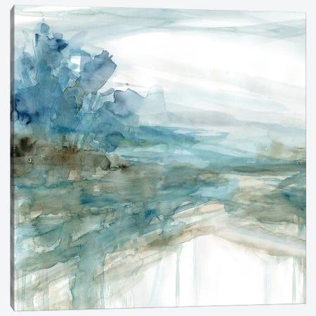 Shimmering Treeline I Canvas Print #CRO687} by Carol Robinson Canvas Artwork