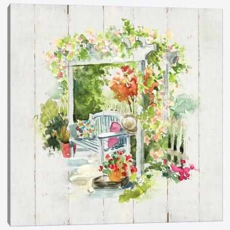 Shiplap Garden Retreat Canvas Print #CRO692} by Carol Robinson Canvas Art