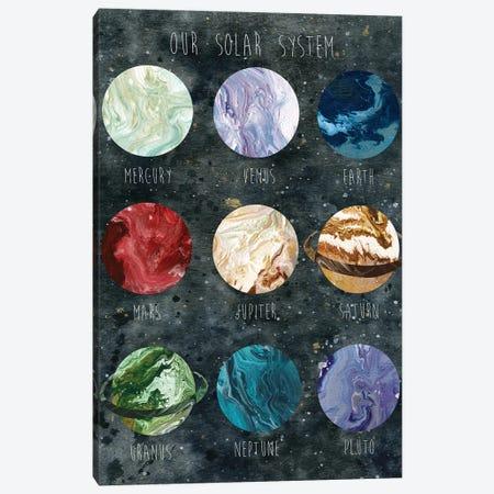 Solar System 3-Piece Canvas #CRO697} by Carol Robinson Art Print