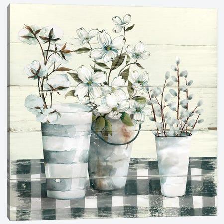 Spring Gingham I Canvas Print #CRO699} by Carol Robinson Canvas Art