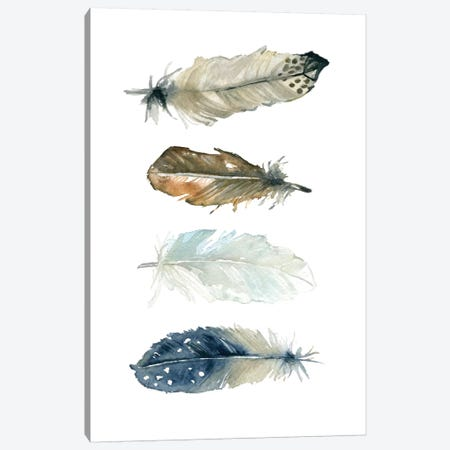 Feather Collection I Canvas Print #CRO69} by Carol Robinson Canvas Wall Art