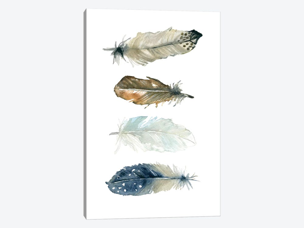 Feather Collection I by Carol Robinson 1-piece Canvas Art