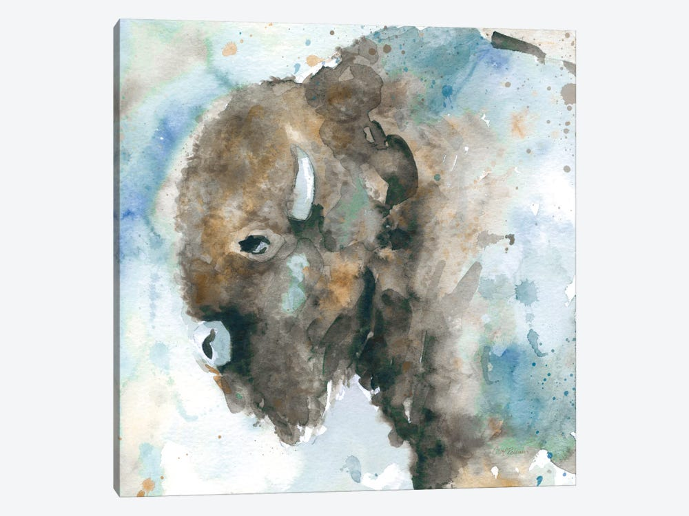 Buffalo On Blue by Carol Robinson 1-piece Canvas Artwork