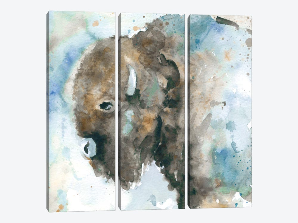 Buffalo On Blue by Carol Robinson 3-piece Canvas Artwork