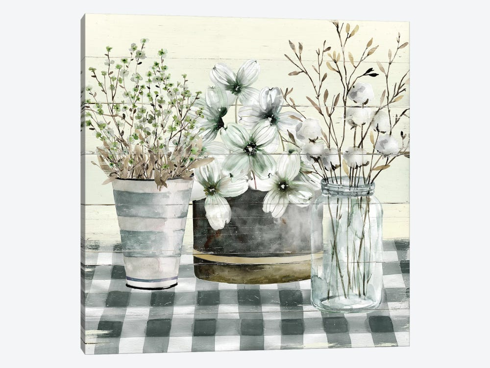 Spring Gingham II 1-piece Canvas Wall Art