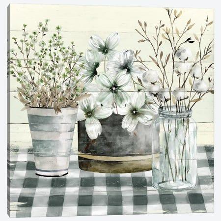 Spring Gingham II Canvas Print #CRO700} by Carol Robinson Canvas Wall Art