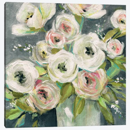 Summer Ranunculus Canvas Print #CRO701} by Carol Robinson Canvas Wall Art