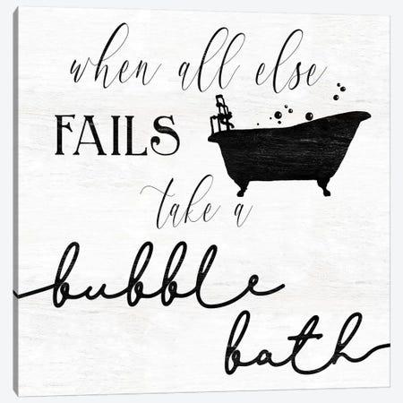 Take a Bubble Bath Canvas Print #CRO705} by Carol Robinson Canvas Print