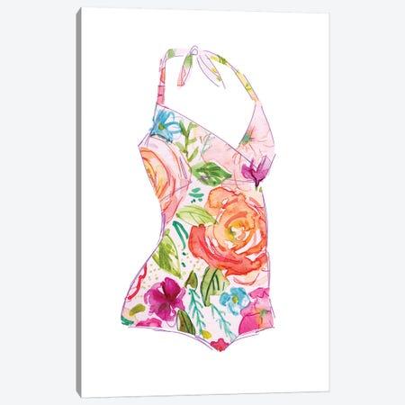 Tropical Swimwear I Canvas Print #CRO712} by Carol Robinson Canvas Print
