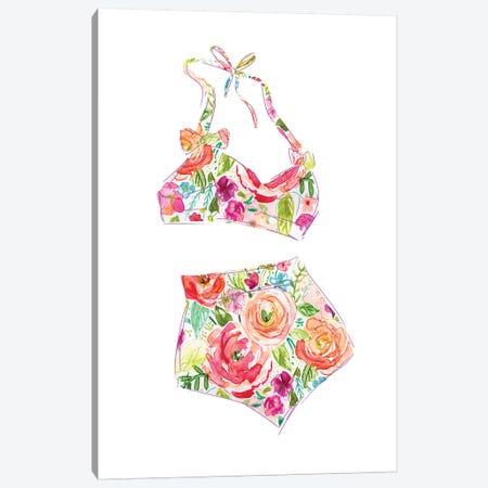Tropical Swimwear III Canvas Print #CRO714} by Carol Robinson Canvas Art