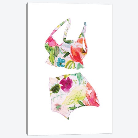Tropical Swimwear IV Canvas Print #CRO715} by Carol Robinson Canvas Artwork