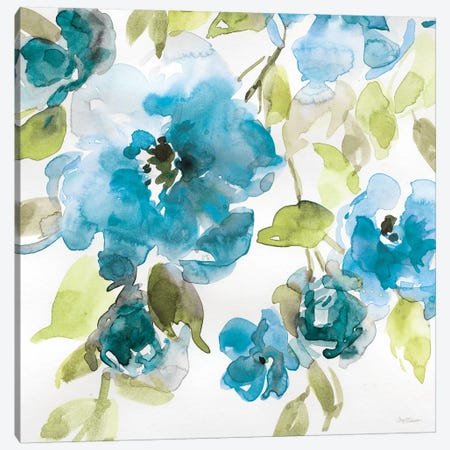 Belle's Blue I 3-Piece Canvas #CRO734} by Carol Robinson Canvas Wall Art