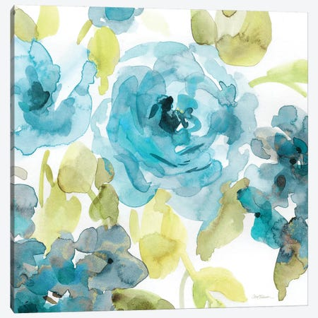 Belle's Blue II 3-Piece Canvas #CRO735} by Carol Robinson Canvas Artwork