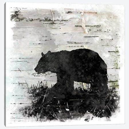 Birch Bark Bear Canvas Print #CRO737} by Carol Robinson Canvas Wall Art