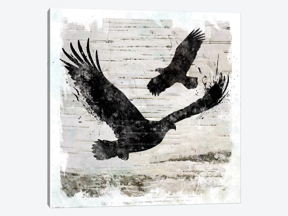 Birch Bark Eagle by Carol Robinson 1-piece Canvas Print