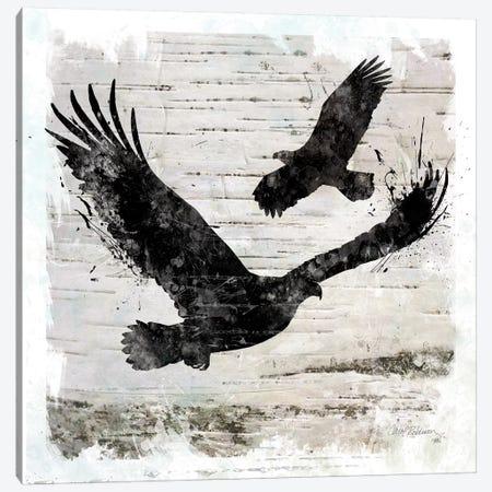 Birch Bark Eagle 3-Piece Canvas #CRO738} by Carol Robinson Canvas Print