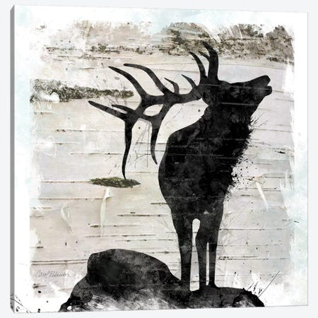 Birchbark Elk Canvas Print #CRO740} by Carol Robinson Canvas Artwork