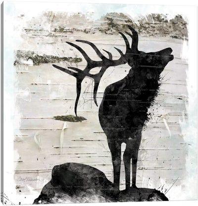 Birchbark Elk Canvas Art Print